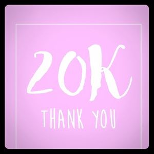 Thank you to my Followers! I've reached 20K!
